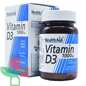 قرص ویتامین D3 1000 iu هلث اید